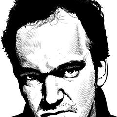 A portrait of Quentin Tarantino