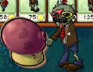 Cardboard Fume-shroom vs. Zombie
