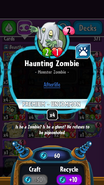 Haunting Zombie stats