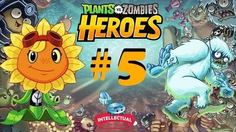 Plants vs Zombies Heroes Part 5 Solar Flare at Ice Zombie Cometh