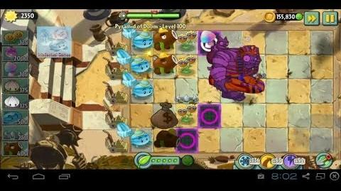 Pyramid of Doom Level 100 Hypno Shroom Battle PvZ2 Endless Zone Dark Ages Plants