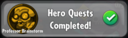 Professor Brainstorm quest completed