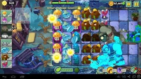 Arthur's Challenge Level 36 to 40 Plants vs Zombies 2 Dark Ages