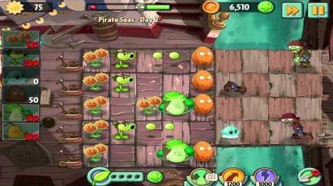 Plants vs Zombies 2 Pirate Seas Day 2 Walkthrough