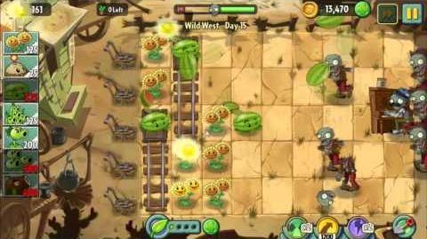 Wild West Day 15 Plants vs Zombie 2 Walkthrough