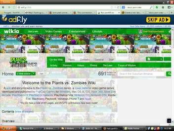 PvZwiki advert adfly