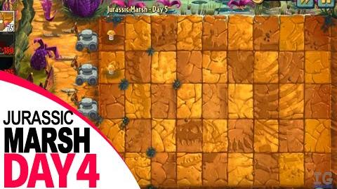 Plants Vs Zombies 2 Jurassic Marsh Day 4 Primal Wall nut