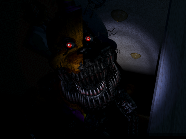File:It was me nightmare fredbear x child reader by clanwarrior-d93kum6.png