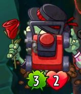 Flamenco Zombie destroyed by Lawnmover