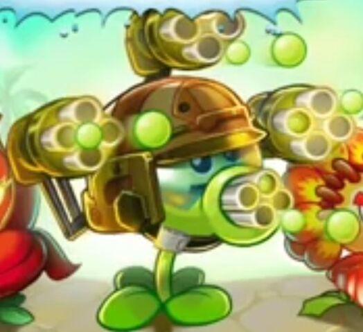 File:Gatling Pea on title screen.jpeg