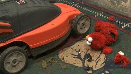 3 talking Elmo's VS mower