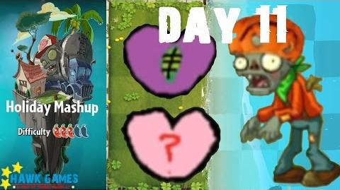 Plants vs. Zombies 2 - Holiday Mashup World by AB Fan 1000 - Day 11 (Heart Breaker)