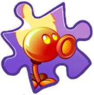 Fire Peashooter Puzzle Piece