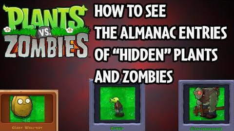 "How to see almanac entries of ""hidden"" plants and zombies in Plants vs"
