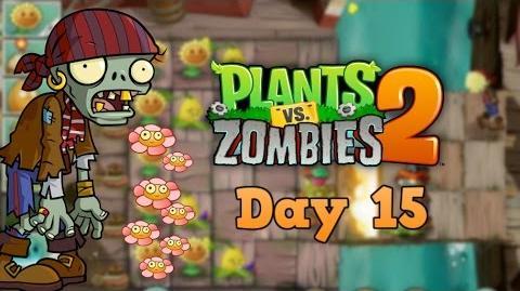 Plants vs Zombies 2 Pirate Seas Day 15 Walkthrough