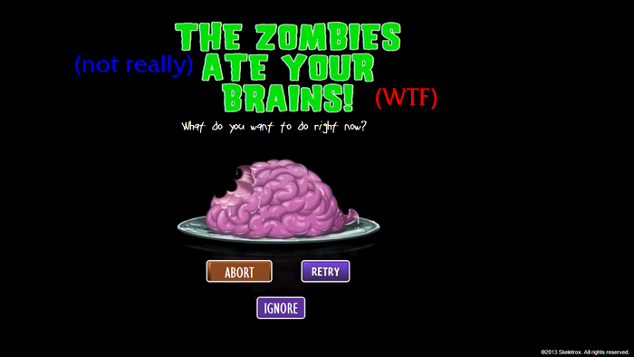 The Zombies not rly ate brainz