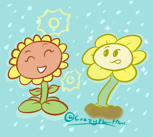File:Sunflower&Flowey.png