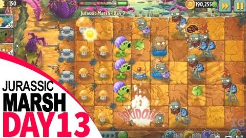 Plants Vs Zombies 2 Jurassic Marsh Day 13