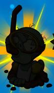 Snorkel Zombie silhouette