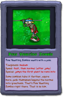 Almanac Card Pole Vaulting Zombie