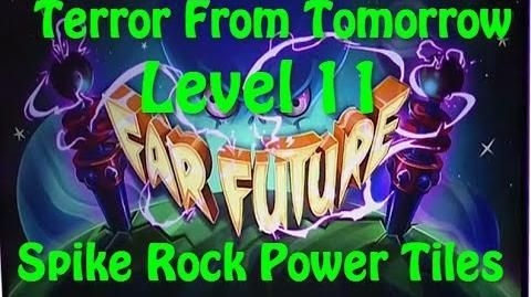 Terror From Tomorrow Level 11 Spike Rock Power Tiles Plants vs Zombies 2 Endless