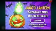 Jack O' Lantern advertisment