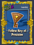 Yellow key of precison sticker