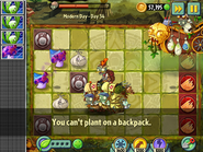 Can't Plant on Backpack