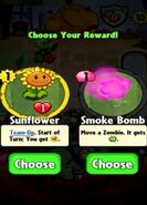 Choice between Sunflower and Smoke Bomb
