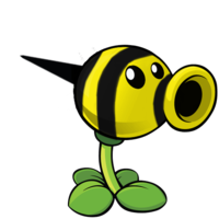 File:Plants vs zombies 2 iat beeshooter by walter 20210-d7vvle1.png