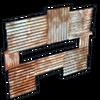 Metal horizontal embrasure icon