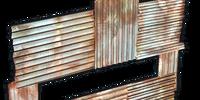 Metal horizontal embrasure