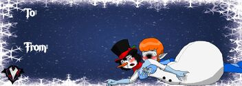Gothic Christmas - Gift Tag - Wynter and Zoey