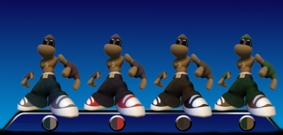 Gangster Rayman Color Palletes