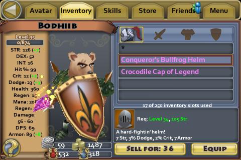 Conqueror's Bullfrog Helm