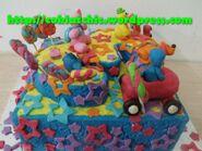 Cake-angka-3-dengan-pocoyo-dan-teman-teman1