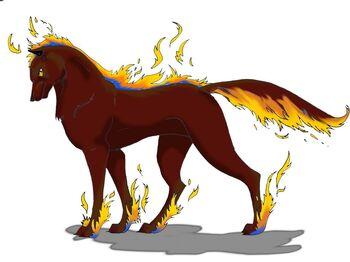 Fire Spirit Wolf by DarkMoon17