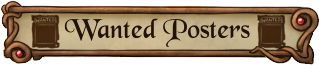 Wanted Posters Button