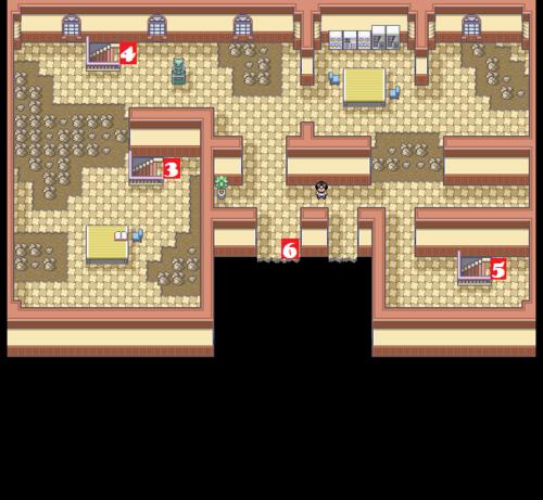 Kanto Pokémon Mansion F3 Map