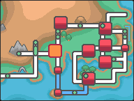 Kanto Viridian City Map