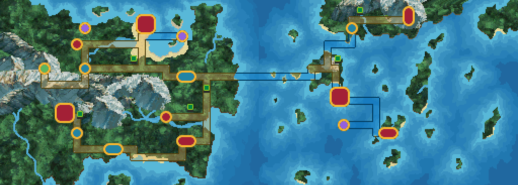 Image result for pokemon uranium map