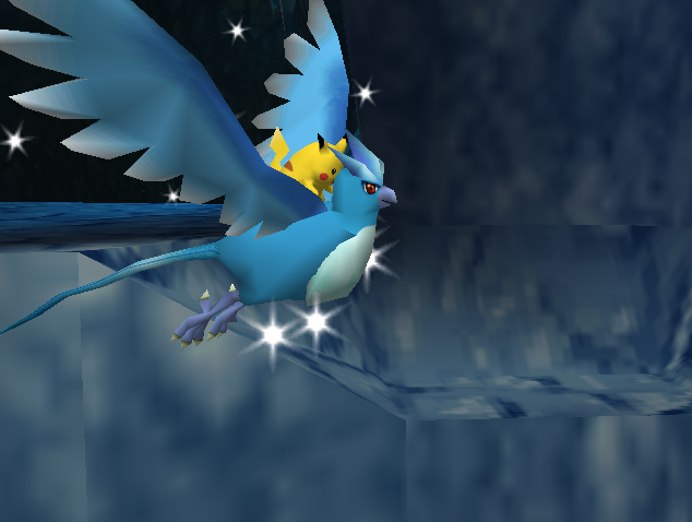 File:Pikachu riding on Articuno in the cave.png