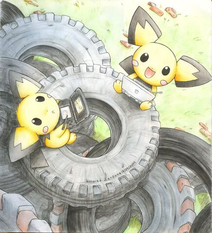 File:Pichu Brothers Fan Art.jpg