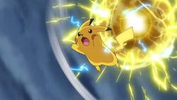 Ash's Pikachu Massive Electro Ball