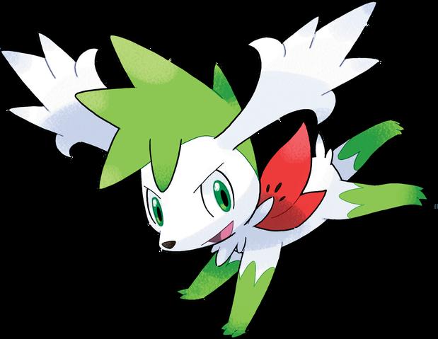 File:492Shaymin (Sky) Pokemon Platinum Flower Paradise.png
