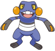 453Croagunk DP anime 3