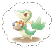 Snivy-Dream-World-Bubble-Artwork1