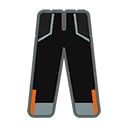 Pants M Black Orange