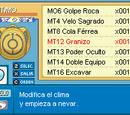 Ubicación de las MT y MO