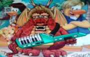 Poko with keytar